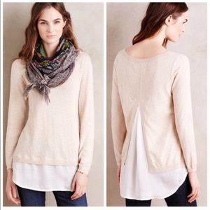 Anthropologie Angels Of The North Layered Pullover